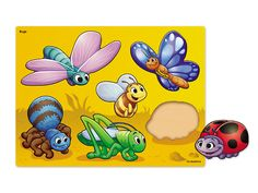 Bugs Puzzle at Lakeshore Learning Teacher Magazine, Discovery Kit, Lakeshore Learning, Shape Puzzles, Bugs And Insects, Learning Spaces, Thinking Skills, Wooden Puzzles, Early Learning
