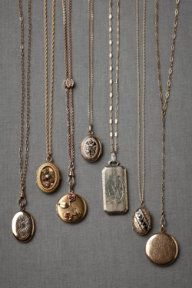 Collector's Lockets- I love vintage jewelry.,
