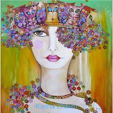 Risultati immagini per karina chavin pinturas Jig Saw, Kunstjournal Inspiration, Art Journal Inspiration, Art Tutor, Mother Art, Abstract Faces, Painting Of Girl, Naive Art, Types Of Art