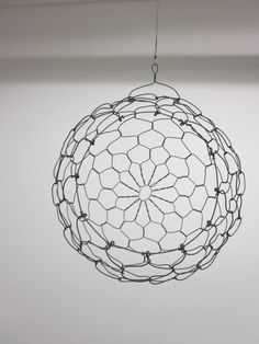 Two Custom Hanging Sphere baskets Reserved For by CharestStudios