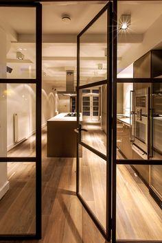 Black Steel Doors Design Ideas, Pictures, Remodel, and Decor - page 2 Door Design Interior, Modern Interior, Interior Architecture, Interior And Exterior, Interior Ideas, Steel Frame Doors, Internal Doors, New Homes, Inspiration