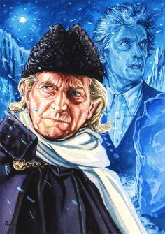 """""""You may be a doctor, but I am THE Doctor. The original, you might say!"""" A new painting looking forward to the Christmas episode 'Twice Upon a Time'."""