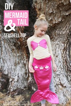 DIY Mermaid Tail and Seashell Top.....so fun for costumes, dress up, and imaginative play! | via Make It and Love It