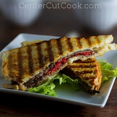 Havarti, Roast Beef, and Roasted Red Pepper Panini- dinner in under 15 minutes!