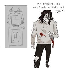 Anonymous said: I kinda think your Jeff the Killer looks like Tommy Wiseau Answer: I don't know whats funnier, this ask or how it well it fits Creepypasta Slenderman, Creepypasta Characters, All Horror Movies, Creepy Pasta Family, Dont Hug Me, Jeff The Killer, Literature Club, Geek Girls, Day For Night