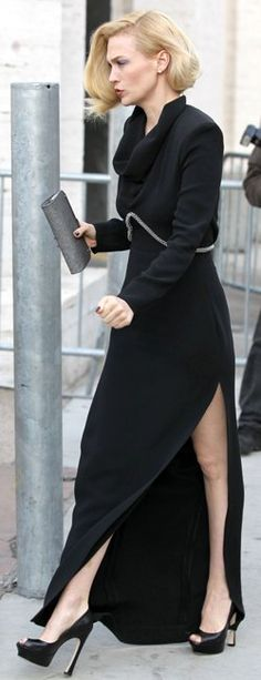 January Jones rockin a YSL dress. Who looks this good in candid shots?