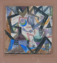 Paul Klee, mit dem Kometen, 1917,125, Aquarell auf Gipsgrundierung auf Gaze auf Karton, 24,5 x 22 cm, Musées Royaux des Beaux-Arts de Belgique, Brüssel, Vermächtnis Alla Goldschmidt-Safieva, Inv. Nr. 11191.