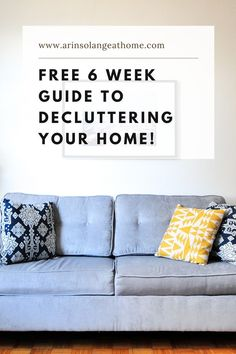 Here is your free guide to declutter and organize your home! A 6 week checklist to help you get through every area of your house. Everything you need to declutter with tips and tricks to help! Clothes Drawer Organization, Home Organization Hacks, Declutter Your Home, Organizing Your Home, Pantry Baskets, Diy Office Desk, Basket Labels, Displaying Kids Artwork, Kids Craft Supplies
