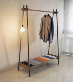 Ksilofon Wooden Garment Rack from Ana Kras   Remodelista