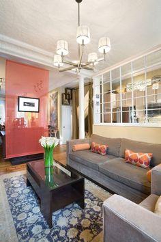 Trennwandsysteme Stoff-rot Transparenz-wohnzimmer Tobin+Parnes Design-Enterprises