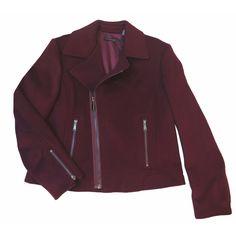Elie Tahari Women's Mae Burgundy Coat