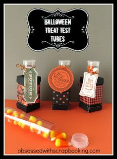 Obsessed with Scrapbooking: [Video]Halloween Artiste Cricut Treat Test Tubes