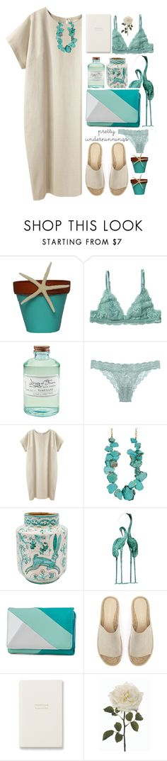 """1915"" by mykatty091 ❤ liked on Polyvore featuring Monki, Library of Flowers, Cosabella, La Garçonne Moderne, Fountain, New Directions, Mint Velvet, Smythson, polyvorecontest and prettyunderpinnings"