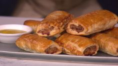 Last weekend, Britons and Americans reacted with confusion and disbelief after finding out that our beloved sausage roll exists on only one side of the Atlantic. A recipe for sausage rolls in the New York Times, along with the claim that it was a traditional British dish served on Boxing Day, prompted neighbours across both sides of the pond to quiz each other about the culinary cultural difference. Phil Vickery is here to allay any fears and show our American cousins how to cook and… Phil Vickery Recipes, Nibbles For Party, Marinated Lamb, Christmas Trimmings, British Dishes, Lamb Dishes, Sausage Rolls, Lamb Chops, Summer Picnic