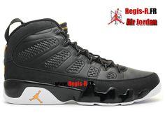 Air Jordan 9 Retro - Chaussures Basket Jordan Pas Cher Pour Homme noir/blanc…