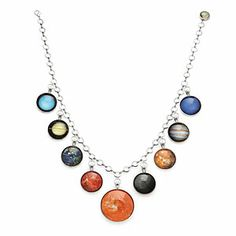 Complete Solar System Necklace (Look! There's Pluto!)