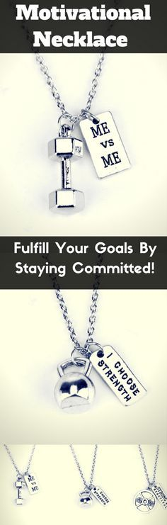 Stay committed to your goals. Wear this unique necklace that represents the lifestyle of your dreams. Very powerful quotes. #Goals!
