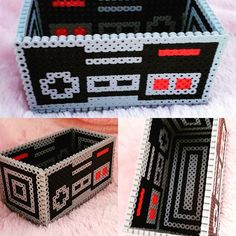 Nintendo box hama beads by dkenn17