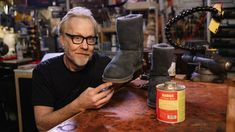 Adam Savage Repairs His Ugg Boots!