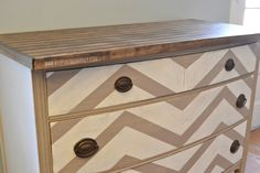 chevron painted furniture - Google Search