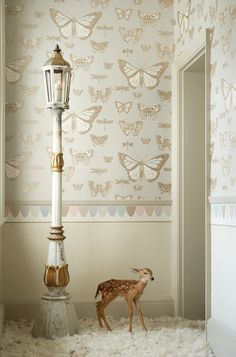 Beautiful #Butterflies and #Dragonflies wallpaper design by Cole & Sons