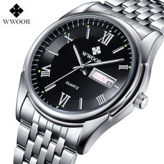 Top Men's Watches Auto Date Stainless Steel Back Light Hours Sport Watch Men Casual Quartz Clock Business Wristwatch