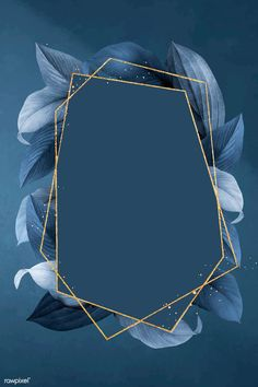 Hexagon foliage frame on blue background vector premium image by busbus Flower Background Wallpaper, Framed Wallpaper, Frame Background, Flower Backgrounds, Vector Background, Background Patterns, Wallpaper Backgrounds, Blue Background Wallpapers, Baby Blue Background