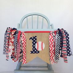 ONE 1 Baseball Highchair First Birthday Party Decorations Navy Blue & Red Burlap Bunting Pennant Banner for Baby Boy Photo Prop Baseball First Birthday, Boys First Birthday Party Ideas, First Birthday Party Decorations, Baby Boy First Birthday, Ball Birthday Parties, Basketball Birthday, Birthday Photos, Baseball Boyfriend, Baseball Cap