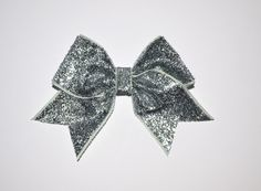 Image of Silver glitter ribbon bow