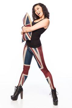 Union Jack Leggings (US $69) by Gold Bubble Clothing