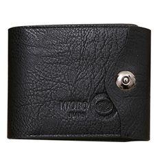 2017 Fashion Men's Luxury Wallet Men Button Leather Card Cash Brown Wallets Receipt Card Holder Purse carteras mujer wholesale  #Affiliate