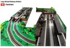 Lego Train Station, Lego Train Tracks, Lego Trains, Train Stations, All Lego, Lego Room, Lego Models, Portsmouth, Southampton