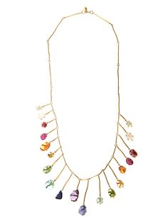 Multi-stone & yellow-gold necklace | Pippa Small |