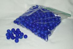 Marbles Glass Blue 250 pcs Great for Crafts by WMCraftSupplies