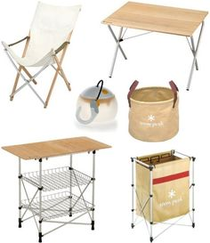 Snow Peak camping furniture and wares @ bloomize.com