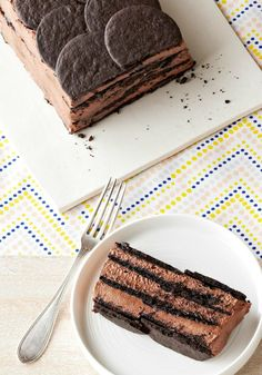 Chocolate Icebox Cake — Keep cool this summer with this yummy dessert, prepped for the fridge in just 15 minutes! Bonus: This recipe is made with ingredients you probably already have on hand.