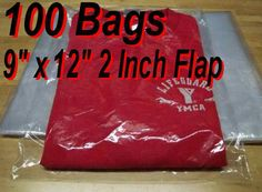 """100 9"""" x 12"""" Clear Poly T Shirt Plastic Apparel Bags 2"""" Flap Best Quality 