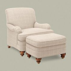 Ethan Allen Mercer Chair... if couch is white, these chairs in fun patterns!