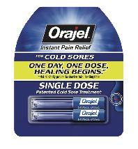 Orajel(TM) Single Dose Cold Sore Treatment