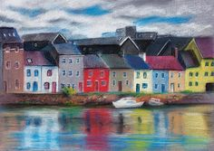 Galway pastel painting
