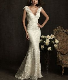 Latest Mermaid V-neck halter wedding dress lace wedding dress train sur Etsy, 126,92 €