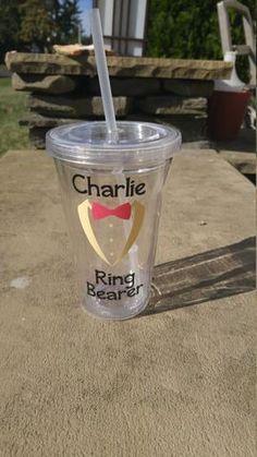 Ring Bearer Tumbler, Ring Bearer Cup, Personalized Ring Bearer Gift