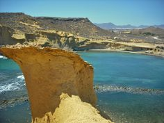 Sandsteinpilz am Strand Playa Cerrada bei #Pulpi, #Andalusien.