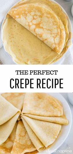 EASY crepe recipe (with VIDEO) - I Heart Naptime - #breakfastideas - The perfect crepe recipe to make for any occasion and completely delicious! The best part about these crepes is they are super easy and can be made right in your blender. Not only are they great for breakfast, but dessert too!... Easy Crepe Recipe, Crepe Recipes, Brunch Recipes, Easy Dinner Recipes, Breakfast Recipes, Easy Meals, Dessert Recipes, Desserts, Breakfast Ideas