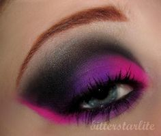 Like the pink and purple shadow