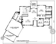 Three Bed Traditional Home Plan - 89588AH | 1st Floor Master Suite, CAD Available, PDF, Traditional | Architectural Designs