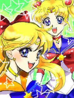 Sailor Moon and Sailor Venus