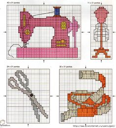 Cross stitch sewing stuff