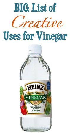 46 Creative Uses for Vinegar! ~ from TheFrugalGirls.com {you'll love these tips!} #diy #vinegar
