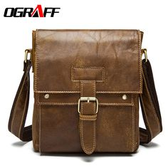 OGRAFF Men bag genuine leather bag men messenger bags Cowskin leather briefcases handbag shoulder Male casual Crossbody Fashion